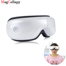 Electric Eye Massager Air Pressure Vibrator Massager Bluetooth Eye Care Device Wrinkle Relieve Hot Compress Therapy Glasses hanriver 2018 220 v heating old leg massager crus hot compress foot massager automatic air wave pressure therapy