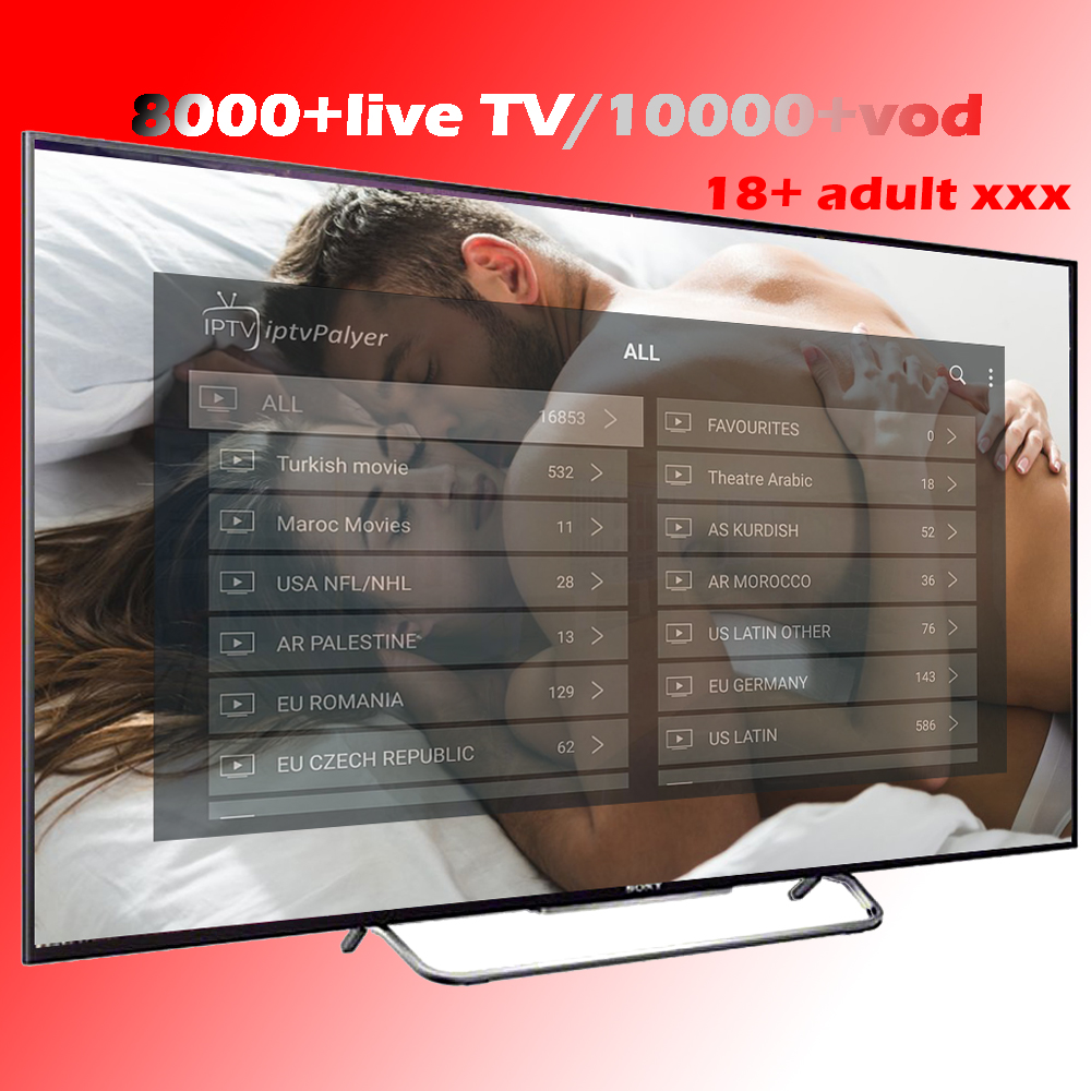 Best IPTV Arabic French Spain USA Sports Adult 18+ Movies 7800+ Live 10000+ VOD Android APK MG Smart TV Subscription IPTV M3U