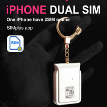 i Phone Dual Sim Adapter No Jailbreak iOS 13 Call Text Functions For iPhone5/6/7/8/X/XS max / i Pod Touch 6th/i Pad(China)