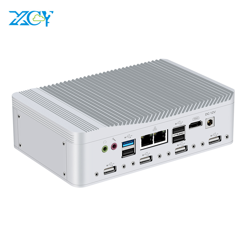 6*COM Serial Port 2*LAN Mini PC Celeron J1900 Quad-Cores Windows Linux HDMI WiFi 8*USB 3G/4G Module Industrial Desktop Computer