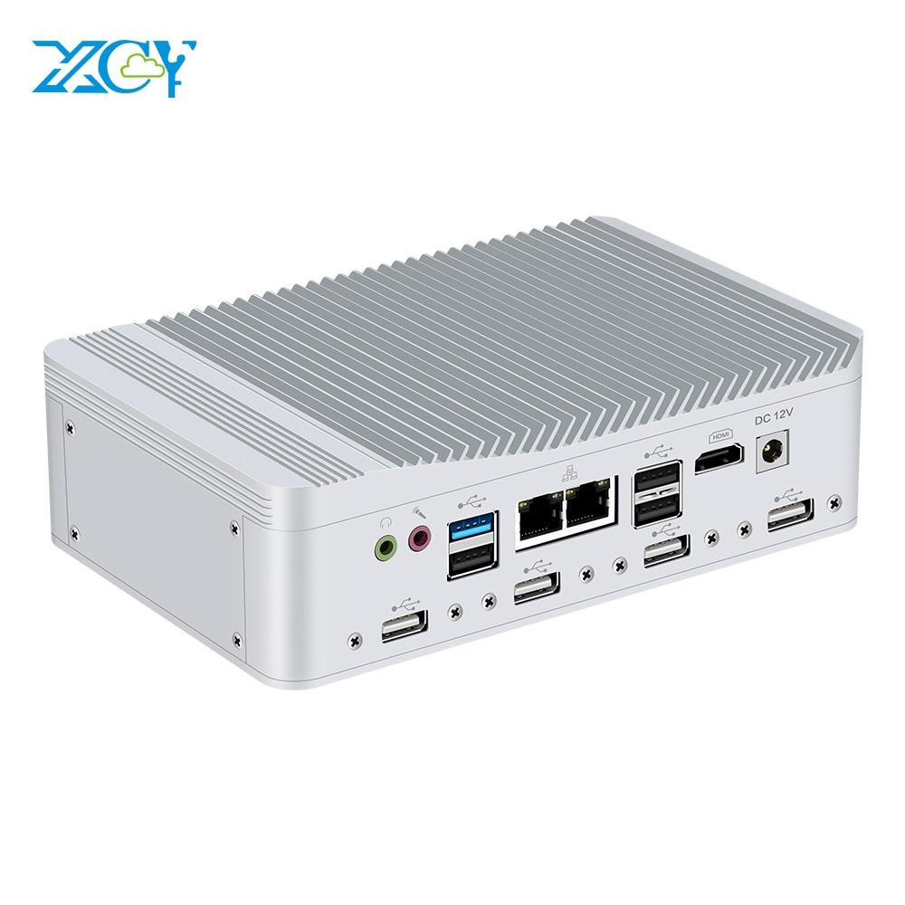 6*COM Serial Port 2*LAN Mini PC Celeron J1900 Quad-Cores Windows Linux HDMI WiFi 8*USB 3G/4G Module Industrial Desktop Computer