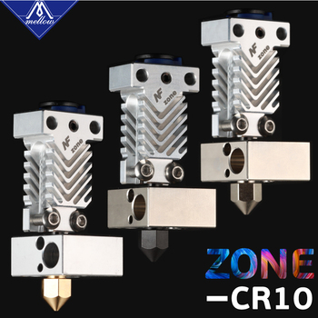Mellow NF Zone-CR10 Hotend Extruder Kit Aerospace Materials For Creality Ender 3 Micro Swiss MK8 Nozzle 3D Printer Parts
