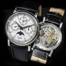 スーパー発光パイロットクロノグラフ機械式時計の男性 100% ST1908 運動 1963 ムーンフェイズnatoカレンダー男性腕時計