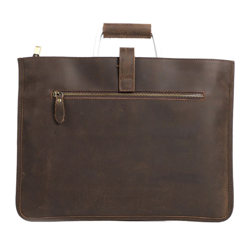 Men's Genuine Leather Handbag Briefcase Business Shoulder Messenger Laptop Bag