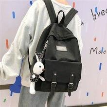 Black Oxford Women Backpack Girls School Bags for Teenage Back Pack Teen Bookbags Female Bagpack Student Preppy Backbag 2020 New