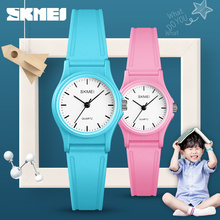 цена на SKMEI children watch Plastic Case Boys Girls Outdoor Sports kids watches  50m Waterproof  PU Starp Quartz Wristwatch 1401