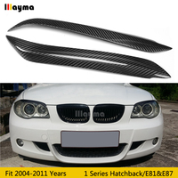 Sobrancelhas do carro de fibra de carbono para bmw série 1 hatchback e87 120i 130i 135i 2004-2011 ano e81 lâmpada do carro pálpebra frente sobrancelha