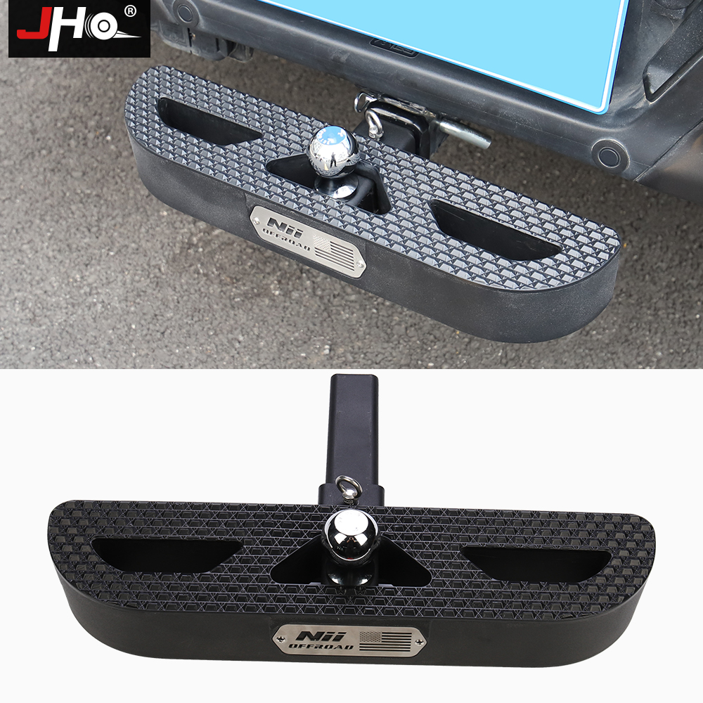 JHO Car Rear Bumper Receiver Trailer Tow Hitch Step Bar Pedal For Ford F150 2013-2020 Raptor Limited 2019 2018 2017 Accessories