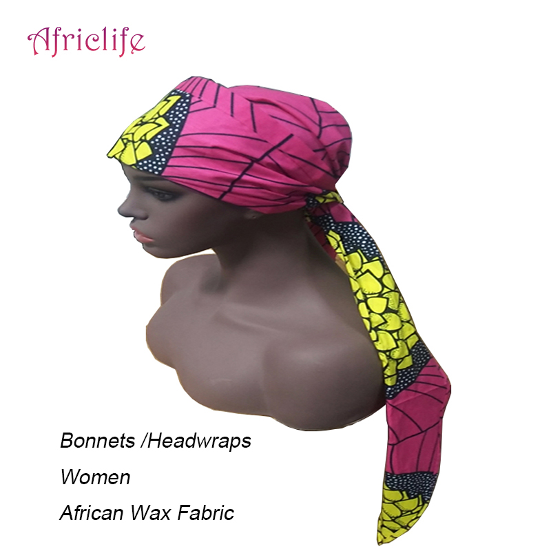 Women Bonnets African Wax Print Cotton Women Headwraps African Fabric Headwrap Jewellery For Christmas Gifts WYB484