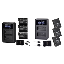 цена на MAMEN 2 Set Digital Camera Battery + LCD USB Dual Charger for Nikon, 1 Set EN-EL14 & 1 Set EN-EL15