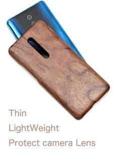 Image 2 - Naturalnie drewniane etui na telefon xiaomi 9T PRO, Redmi K20 Pro skrzynki pokrywa black ice drewno, orzech, palisander