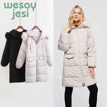 Winter Womens Jacket Coats Casual Hooded Thick Warm Winter Jacket Women Zipper Coat Mid-long parkas Female Outwear