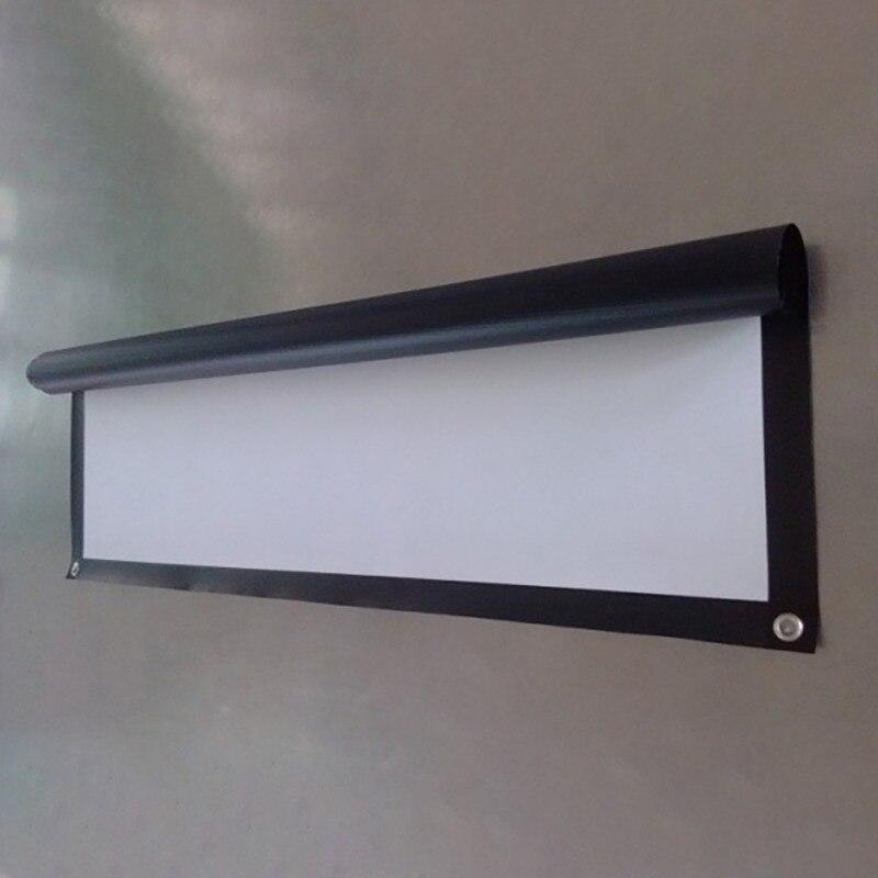 Складной 16:9 проектор 60 72 84 100 120 150 дюймов белый проекционный экран для HD проектор домашний кинотеатр фильмы Вечерние