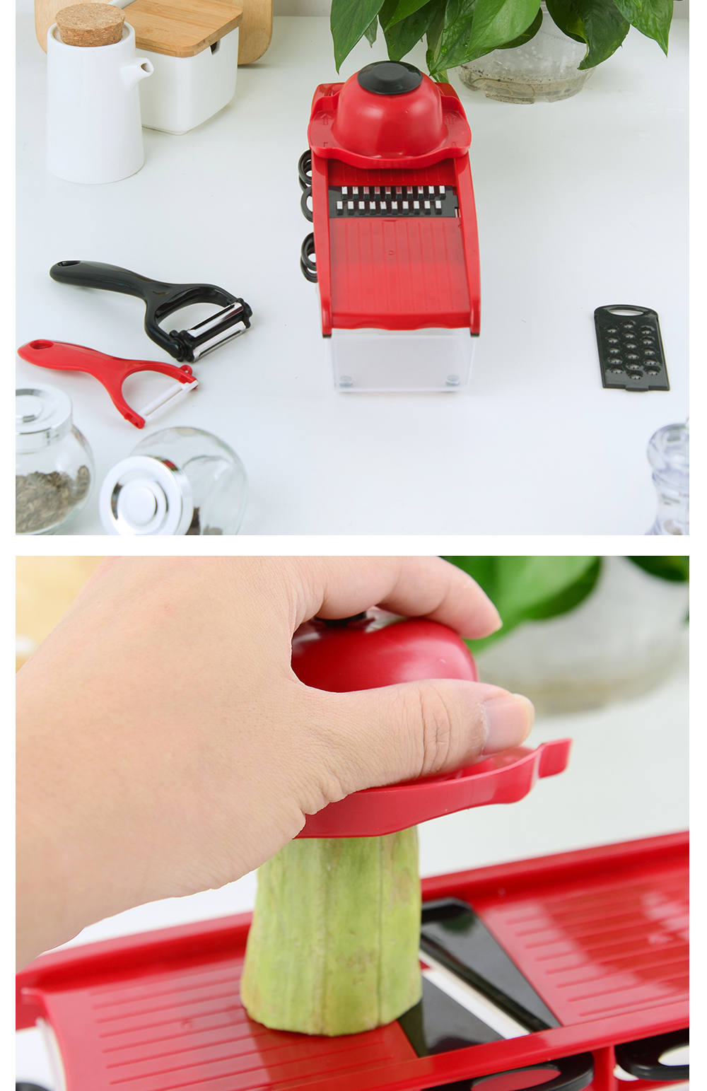 XYJ Vegetable Cutter Mandoline Slicer Potato Peeler Carrot Cheese Grater Vegetable Slicer Kitchen Accessories Gift 2 Peelers