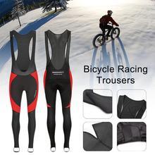 Велосипедные брюки дышащий материал, впитывающий влагу Брюки Зимняя теплая одежда для велоспорта с задним светоотражающим карманом на молнии/FFY