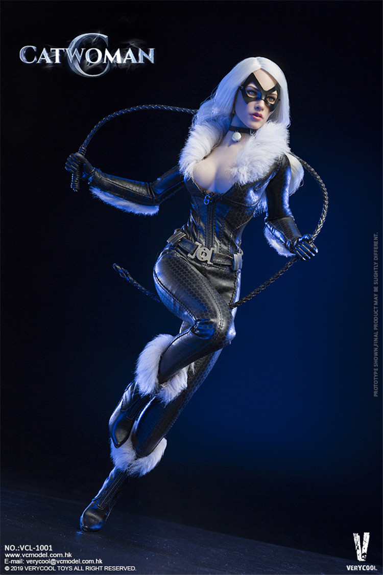 VERYCOOL ACCESSORIES SERIES NEWS:1//6th CATWOMAN SET Leather bodysuit Model