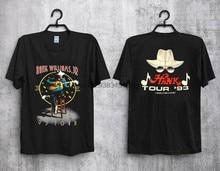 Camiseta vintage 1993 hank williams jr hank tour 93 concerto tour novo quente