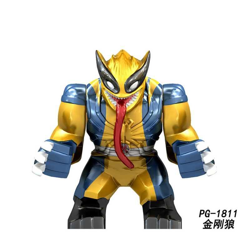 Legoingly Marvel Homem De Ferro Hulk Spiderman Batman Vingadores Thanos Filme Figuras Super Heróis Blocos de Construção Brinquedos para As Crianças