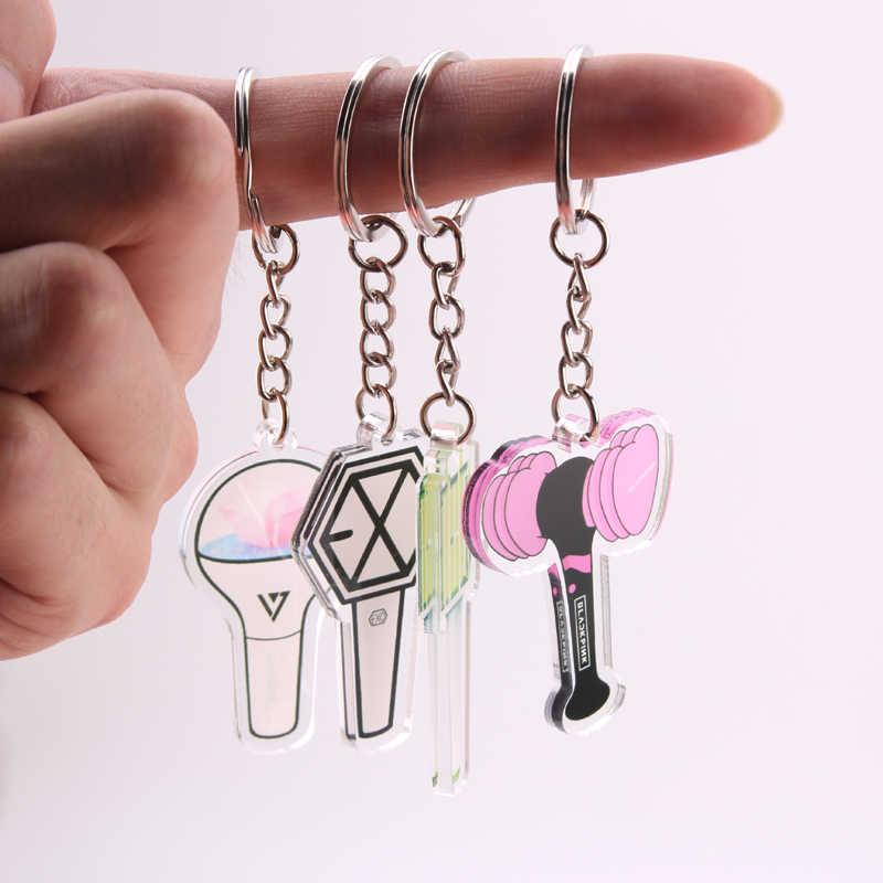 KPOP Bangtan Boys Keychain BLACKPINK EXO GOT7 ZWEIMAL SIEBZEHN Schlüssel Kette Zubehör Schlüssel Ring Nette Anhänger Schlüsselring