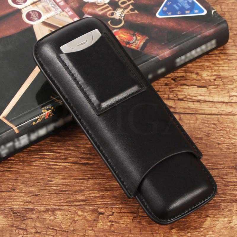 GALINER кожаный чехол для сигар карманный портативный чехол для сигар Humidor Мини дорожная коробка для 2 сигары Cohiba трубка W/резак для сигар
