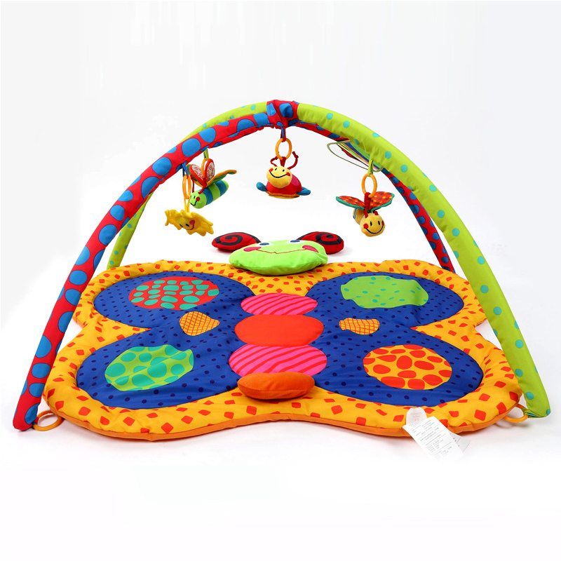 Baby Exercise Gym Portable Baby Play Mat Butterfly Shaped Crawling Mat Baby Crawling Blanket Mat Educational Toys