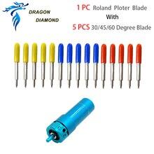 1 pces para a silhueta cameo 2/3 suporte da lâmina com 5 pces 30/45/60 graus plotter cortador c1 combinado para plotador de corte