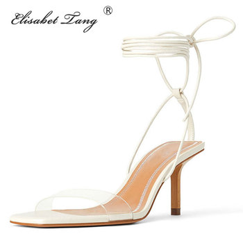 Elisabet Tang Summer Transparent Women Sandals Fashion Stiletto High Heels Ladies Pumps Sexy Party Dress Shoes Woman Sandals