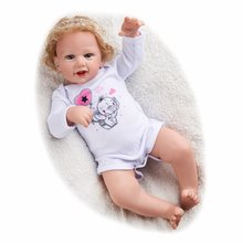 Rbg 21 polegadas lol smiley realista renascer bebê bebe bonecas vivo recém nascido pano corpo vinil brinquedos presente para crianças menina
