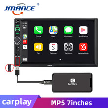 "Jmance 2 Din Apple Carplay Autoradio Bluetooth Android Auto 7 ""Touch Screen Video MP5 Speler Usb Tf Iso stereo System Autoradio(China)"