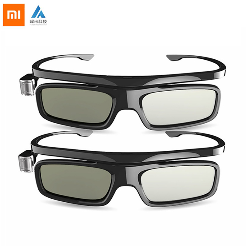 Xiaomi Fengmi Smart DLP-LINK Shutter Type 3D Glasses With USB Charging Cabl For Xiaomi Laer Projector TV 3D Glass