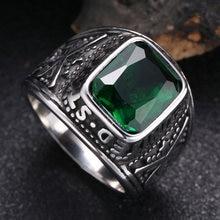 Роскошное Сверкающее циркониевое кольцо с зеленым камнем серебряного