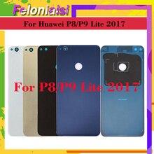 10Pcs/lot ORIGINAL For Huawei P9 Lite 2017 P8 PRA-LA1 PRA-LX1 Housing Battery Cover Back Glass Rear Door Chassis Shell