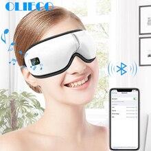 Электрический беспроводной массажер для глаз Отопление терапия давление воздуха спа для глаз Bluetooth Музыка для глаз снятие стресса устройство USB перезарядка раза