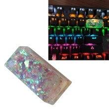 2U ręcznie dostosowane OEM R4 profil żywica Keycap dla Cherry przełączniki MX klawiatura mechaniczna RGB Translucent Keycap 1Pc