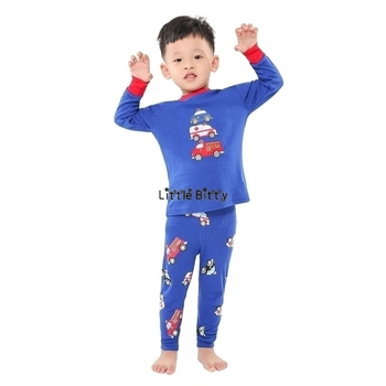 100 Cotton Boys and Girls Long Sleeve Pajamas Sets Children's Sleepwear Kids Christmas Pijamas Infantil Homewear Nightwear - NO6, 3T