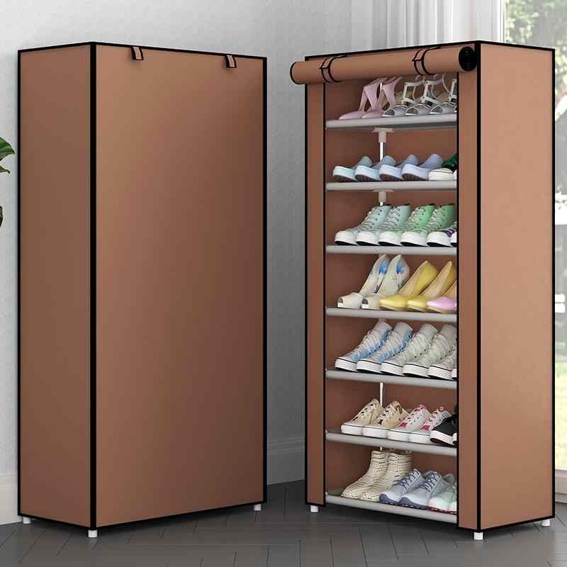 Hause Schuh Lagerung Lagerung Tasche Einfach Zu Installieren Schuh Schrank Halterung Sparen Raum Home Möbel