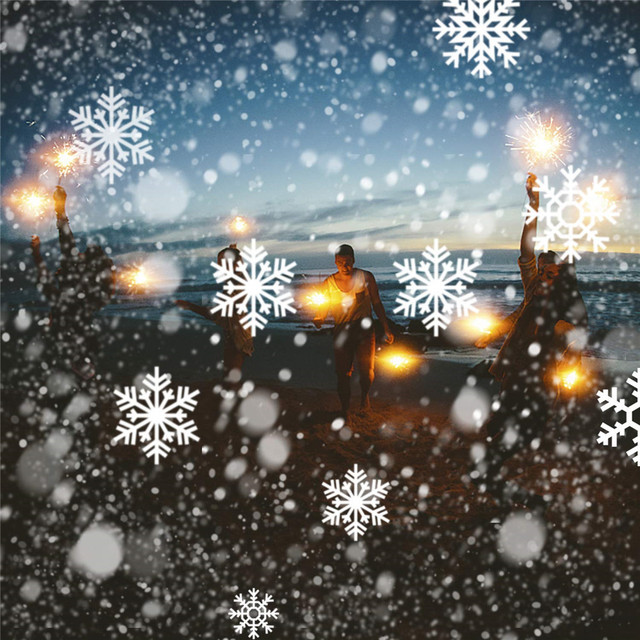 降雪 Led ライトクリスマスプロジェクター、屋内屋外ガーデン雪シーンライト IP65 クリスマス新年降雪ライト + リモート