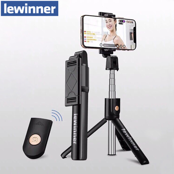 Lewinner 3in1 Wireless Bluetooth Selfie Stick for iphone/Android Foldable Handheld Monopod Shutter Remote Extendable Mini Tripod