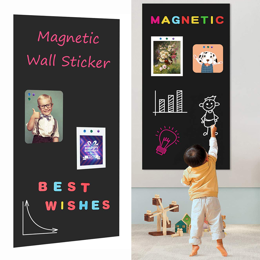 Chalknetic Magnetic Chalkboard Contact Paper For Wall Self Adhesive Chalk Board Wallpaper Learning Board For Homeschool Kids