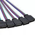 4 pin коробка передач с разъем 5-контактный коннектор RGBW мужской/женский Светодиодные ленты иглы Разъем сварочный кабель для 5050 3528 RGB/RGBW Светод...