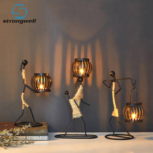Strongwell Vintage Metal Candlestick Home Decoration Handmade Candle Holder Candlestick Decor Miniature  Home Decor Art Gifts