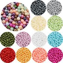 Perles d'imitation ABS rondes sans trou de 4mm, pour l'artisanat, bricolage, bracelet de mariage, Bouquet, décoration, bijoux, accessoire de recherche