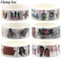 Flyingbee 6 шт./компл. дружба клейкая лента Мода Высокое качество бумаги васи ленты студентов стикер ленты вентиляторы gits X0639