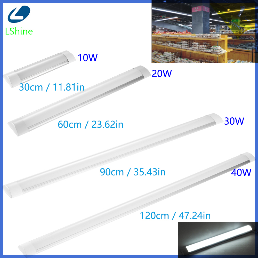 10W-40W 30cm-120cm Garage For Wardrobe Chandelier Batten Light Lamp Office Integrated 1FT Tube Workshop Led Wall With Dust Cover