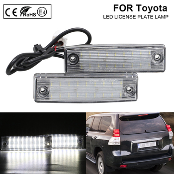 For Toyota Land Cruiser Prado TRJ150/GRJ15 #/GDJ15 #(Lexus GX 470) LED License Plate Light Lamp number plate light Error Free 2x 2x auto light for 03 18 dodge ram 1500 2500 3500 smoke lens led number license plate light kit canbus error free car styling