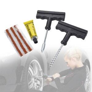 Image 2 - Kit de réparation universel de pneu pour moto, roue sans chambre à air, outils de fixation daiguilles de râpe, ensemble daccessoires dautomobile 6 pièces