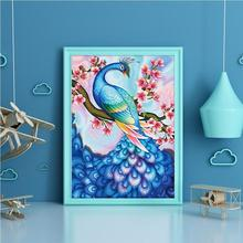 30x40cm Peacock Tail Flower DIY Diamond Painting Embroidery Crosses Stitch Home Room Wall Decor Craft Gifts