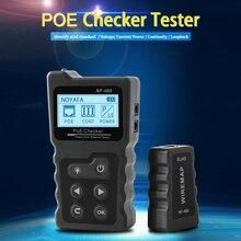 NF-488 сетевой кабель тестер с портом PoE тест er проверка через Ethernet cat5 cat6 Lan тест er сетевые инструменты PoE коммутатор тест кабель тест er