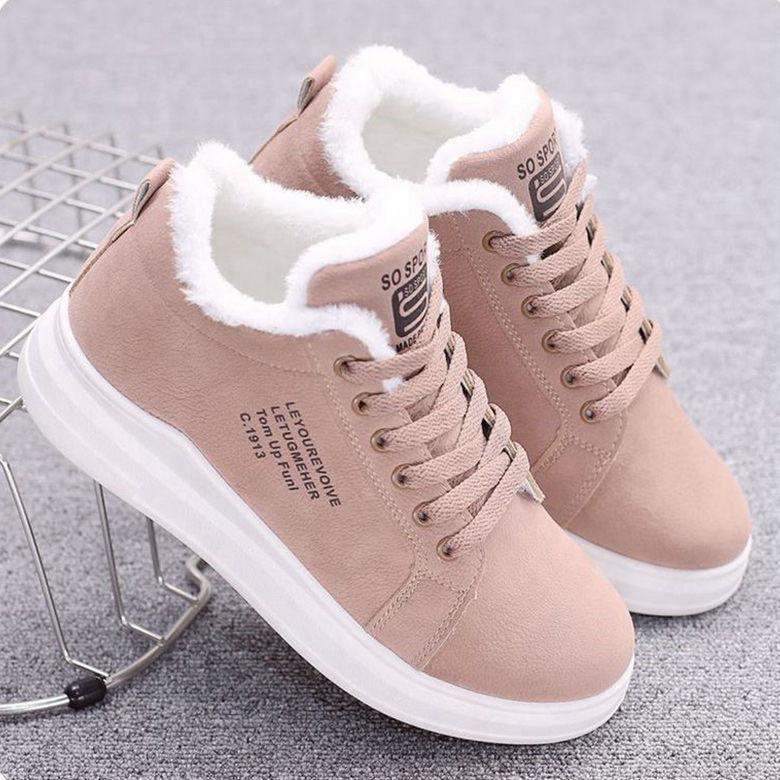 Женские утепленные кроссовки на толстой подошве, теплая хлопковая обувь для студенток, Осень зима 2020|Кроссовки и кеды| | АлиЭкспресс