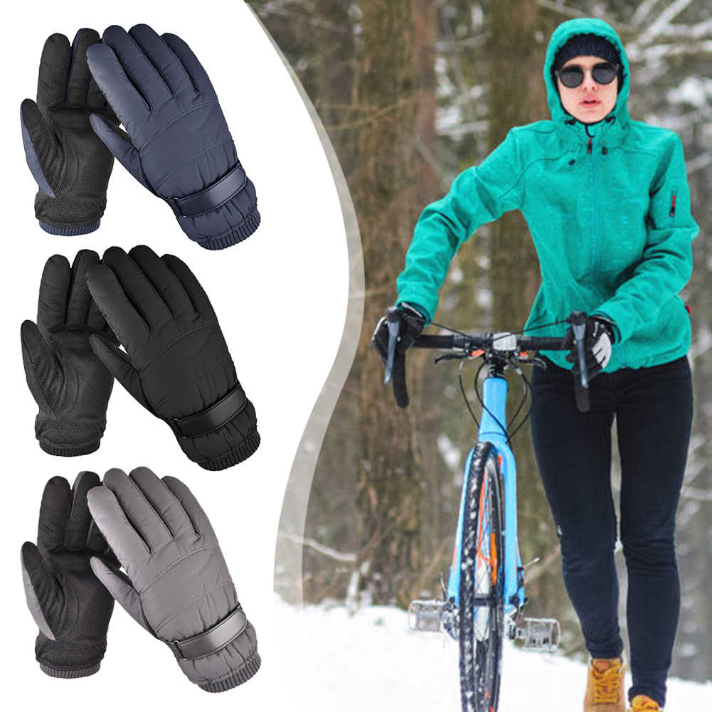 10℃ Waterproof Winter Ski Gloves Touch Screen Warm Mittens Snow Snowboarding